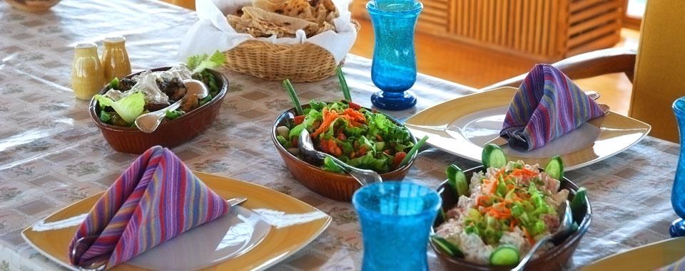 Nile Dahabiya Cruise - Local cuisine on the sun deck