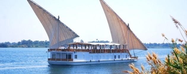 Dahabiya sailing on the Nile
